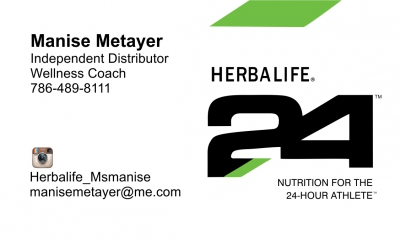 Manise Metayer card front