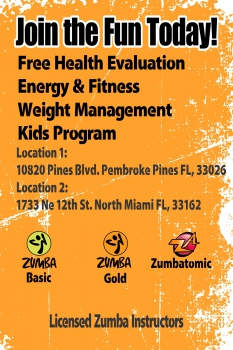 Zumba Flyer front10
